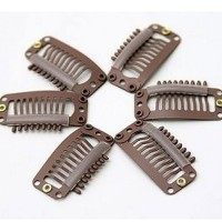 Wig Clips 12 Brown pc.